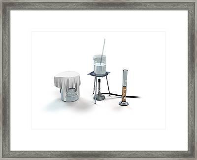Plastic From Milk And Vinegar Framed Print by Mikkel Juul Jensen