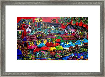 Playing Tourist Framed Print by Patti Schermerhorn