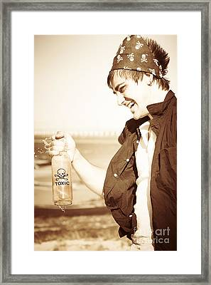 Playing With Chemicals Framed Print by Jorgo Photography - Wall Art Gallery