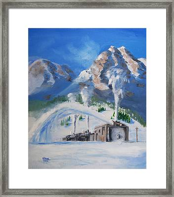 Plowing Home Framed Print by Christopher Jenkins