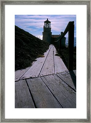 Point Conception Lighthouse Framed Print by Jerry McElroy