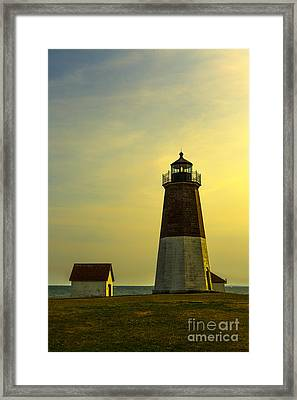 Point Judith Lighthouse Framed Print by Diane Diederich