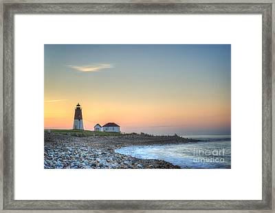 Point Judith Lighthouse Framed Print by Juli Scalzi