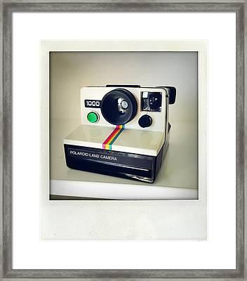 Polaroid Camera.  Framed Print by Les Cunliffe