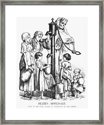 Pollution Cartoon, 1866 Framed Print by Granger