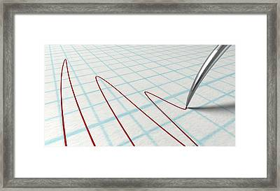 Polygraph Needle And Drawing Framed Print by Allan Swart
