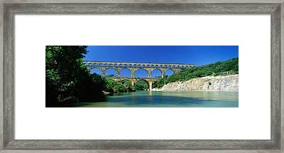 Pont Du Gard Roman Aqueduct Provence Framed Print by Panoramic Images