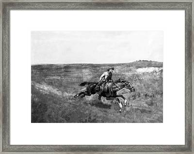 Pony Express Rider Framed Print by Underwood Archives