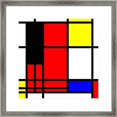 Pop-art Mondriaan Framed Print by Toppart Sweden
