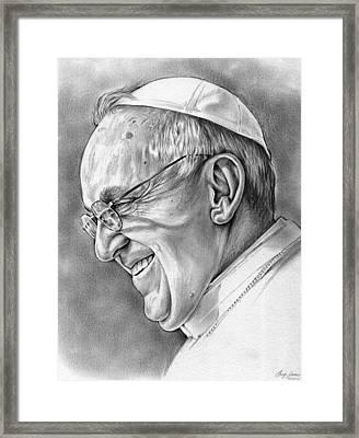 Pope Francis Framed Print by Greg Joens
