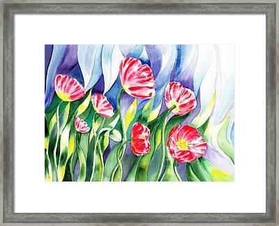 Poppy Field Framed Print by Irina Sztukowski