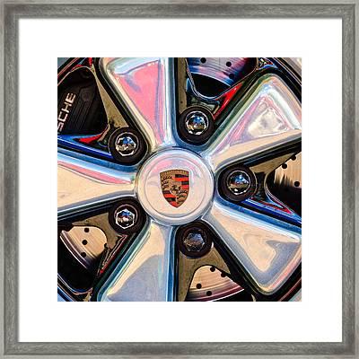 Porsche Wheel Rim Emblem Framed Print by Jill Reger