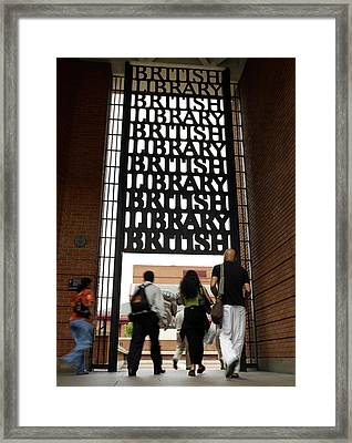 Portico Framed Print by British Library
