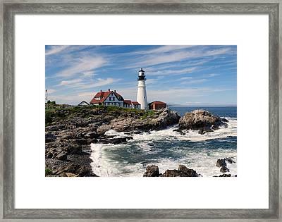 Portland Head Lighthouse Framed Print by Georgia Fowler