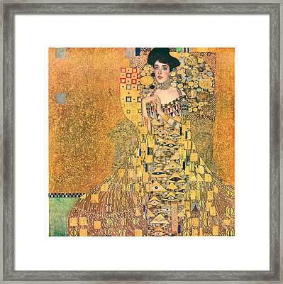 Portrait Of Adele Bloch-bauer I Framed Print by Gustav Klimt