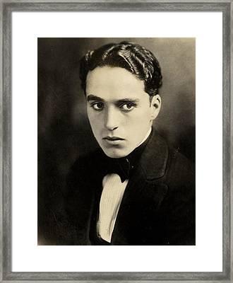Portrait Of Charlie Chaplin Framed Print by American Photographer