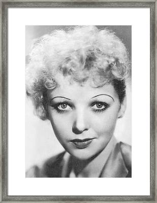 Portrait Of Ida Lupino Framed Print by Underwood Archives