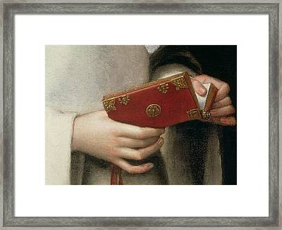 Portrait Of The Artists Sister Framed Print by Sofonisba Anguissola