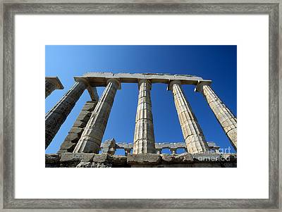 Poseidon Temple Framed Print by George Atsametakis