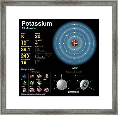 Potassium Framed Print by Carlos Clarivan