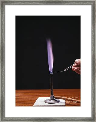 Potassium Flame Test Framed Print by Andrew Lambert Photography
