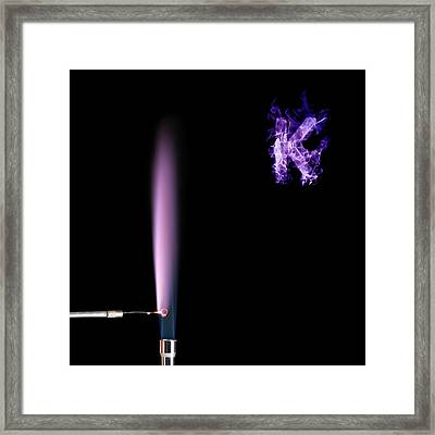 Potassium Flame Test Framed Print by Science Photo Library