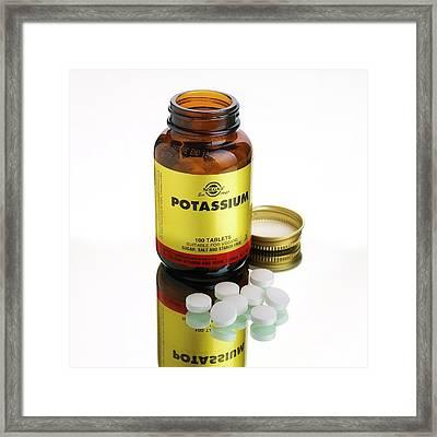 Potassium Tablets Framed Print by Mark Sykes