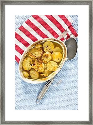Potato Dish Framed Print by Tom Gowanlock