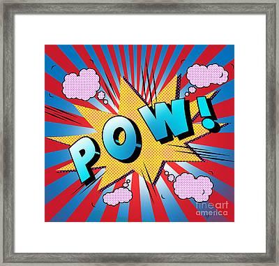 pow Framed Print by Mark Ashkenazi