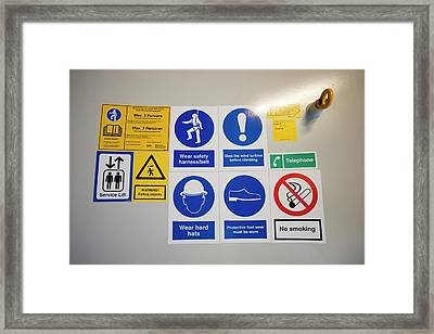 Ppe Instruction Framed Print by Ashley Cooper