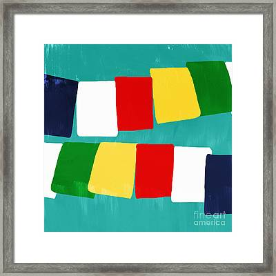 Prayer Flags Framed Print by Linda Woods