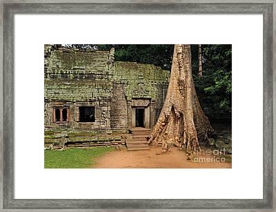 Preah Khantemple At Angkor Wat Framed Print by Sami Sarkis