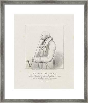 Prince Blucher Framed Print by Samuel Freeman