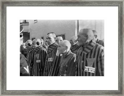 Prisoners In The Concentration Camp Framed Print by Everett