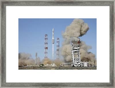 Proton-m Rocket Launch Framed Print by RIA Novosti