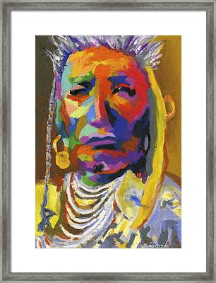 Proud Native American II Framed Print by Stephen Anderson
