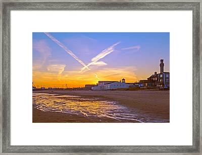 Provincetown Beach At Sunset Framed Print by Frank Winters