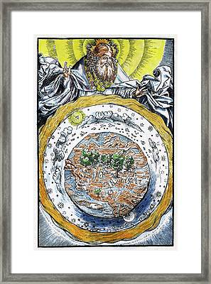 Ptolemaic Universe, 1534 Framed Print by Granger