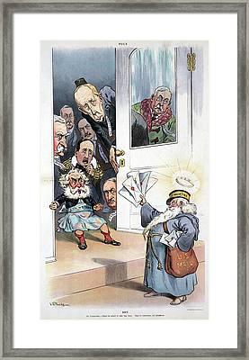 Puck Cartoon, 1906 Framed Print by Granger