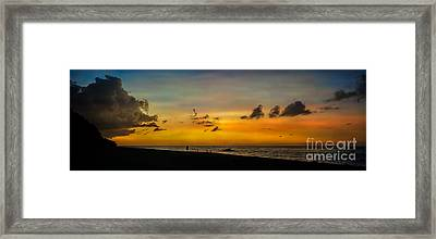 Puka Beach Sunset Framed Print by Adrian Evans