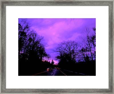 Purple Haze Framed Print by Allen n Lehman