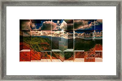 Puu Hinahina Lookout-waimea Canyon Kauai Hawaii Framed Print by Douglas Barnard