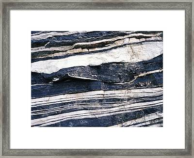 Quartz And Schist Outcrops Framed Print by Dirk Wiersma