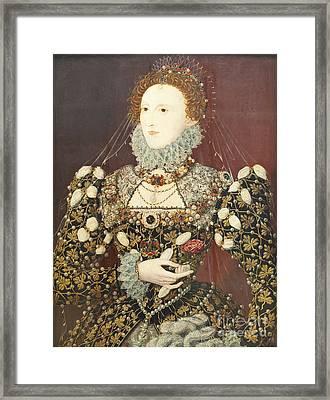Queen Elizabeth I Framed Print by Roberto Morgenthaler