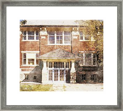 Queen St. School Framed Print by The Art of Marsha Charlebois
