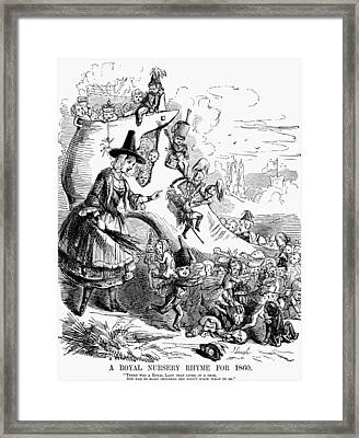 Queen Victoria Cartoon Framed Print by Granger