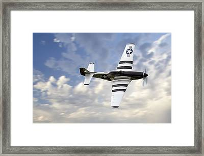 Quick Silver P-51 Framed Print by Peter Chilelli