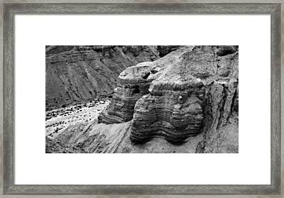 Qumran Cave 4 Bw Framed Print by Stephen Stookey