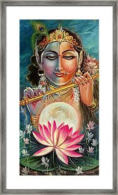 Radha Krishna Framed Print by Mayur Sharma