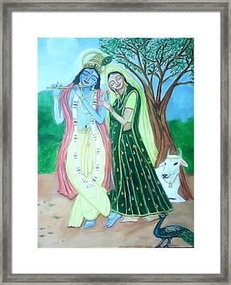 Radhakrishna Framed Print by Suma GV